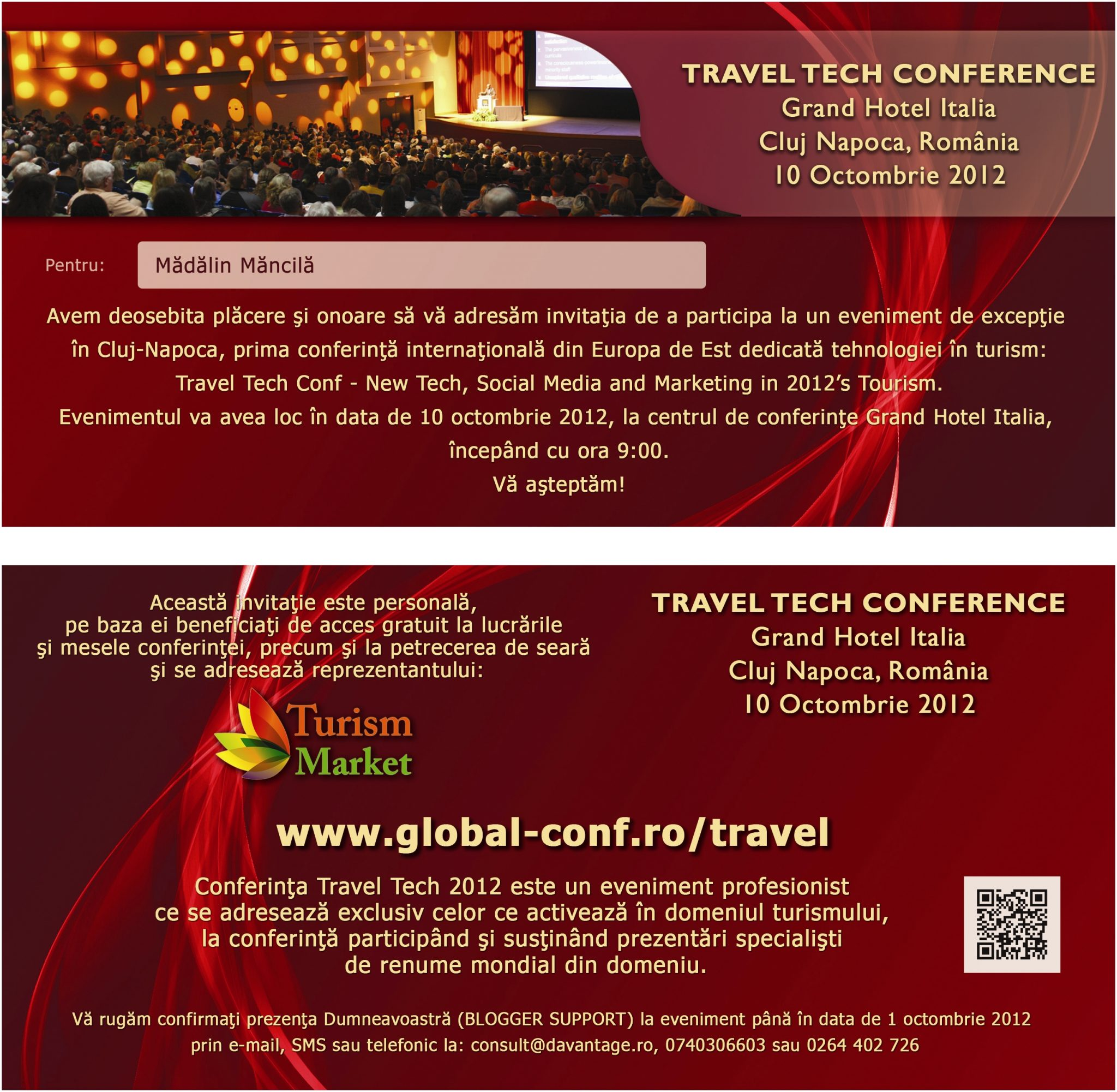 invitatie Travel Tech – Madalin Mancila