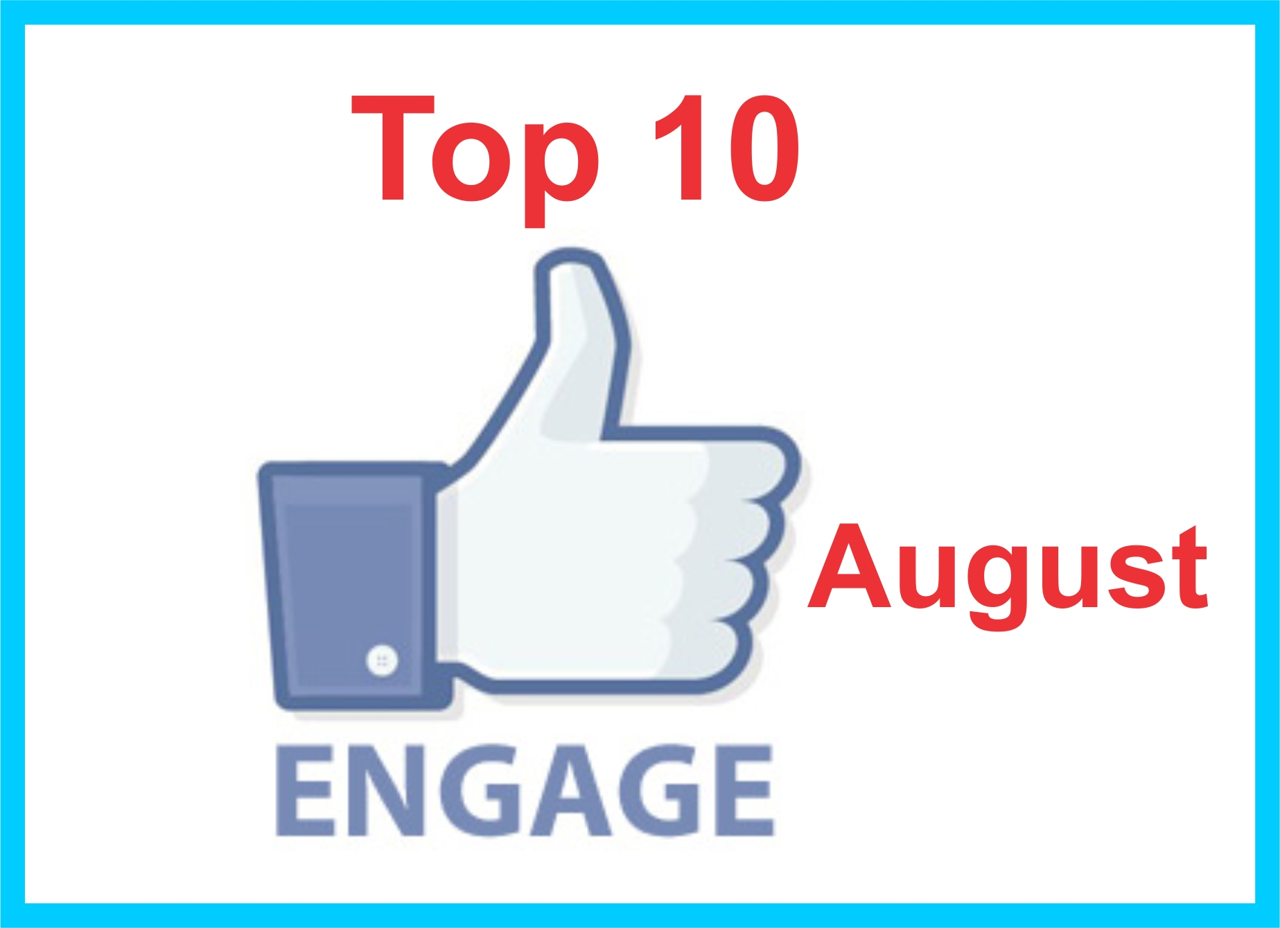 Top 10 august FB