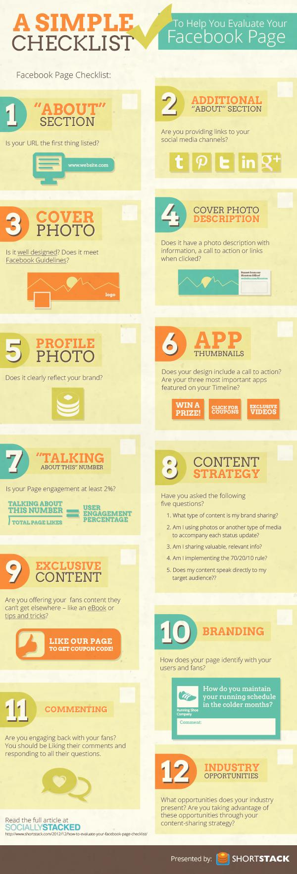 checklist-infographic- ce trebuie sa contina pagina ta de fb