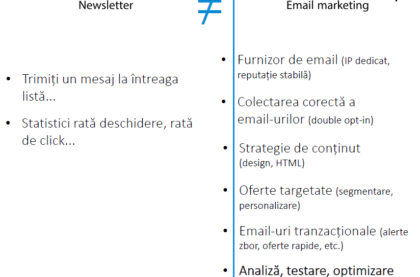 newsletter vs email marketing