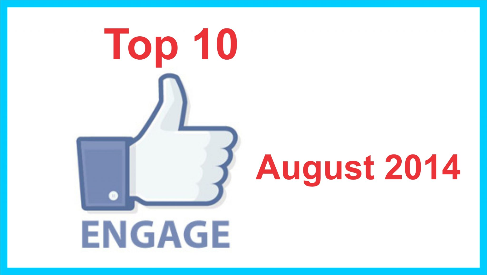 Top 10 august 2014 FB