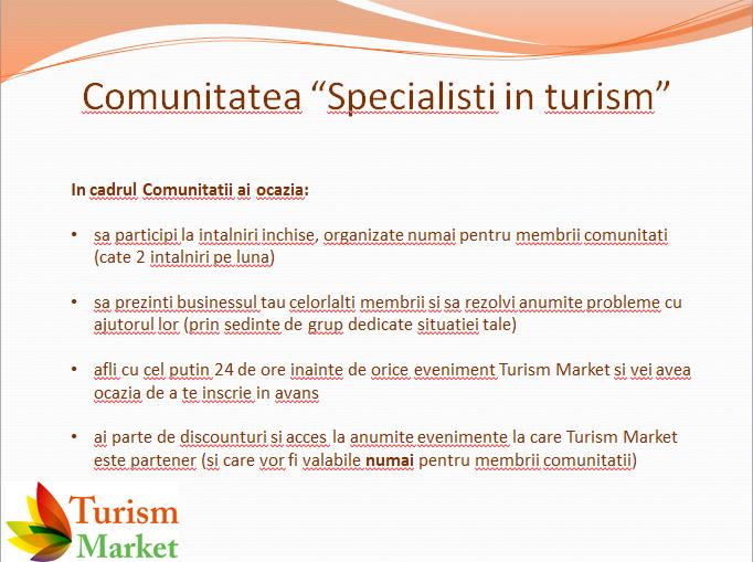 comunitatea Specialisti in turism
